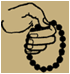 sketch of how to hold a prayer rope