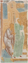 fresco of the publican and the pharisee in the Temple
