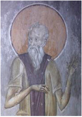 fresco of St. Paul the Simple