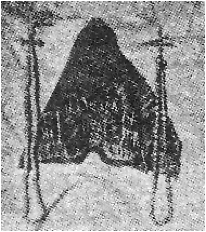 photograph of the monastic cowl and two prayer ropes belonging to St. Euphrosynus of Blue Jay Lake
