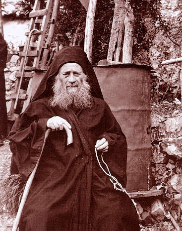 photograph of the Elder Joseph the Hesychast